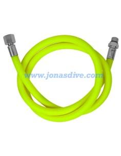 "Miflex, Yellow LP regulator hose (3/8"")"